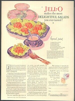 "Jell-O in Salads! Surprising?. ""Imperial Salad"". 1927 Jell-O Co. Magazine Ad"