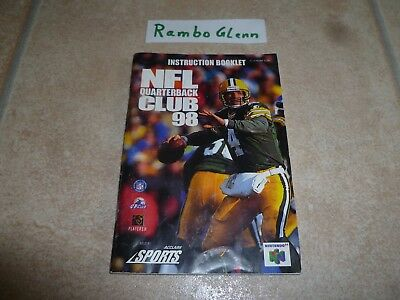 NFL QUARTERBACK CLUB 98 Nintendo 64 N64 SPIELANLEITUNG INSTRUCTION BOOKLET
