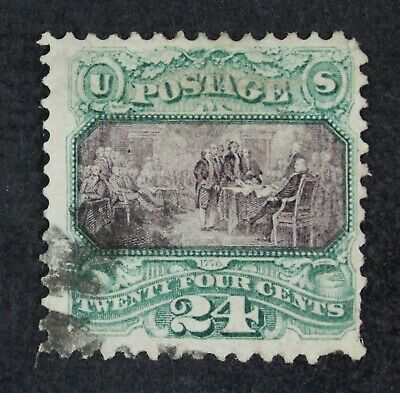 CKStamps: US Stamps Collection Scott#120 24c Pictorial Used CV$650