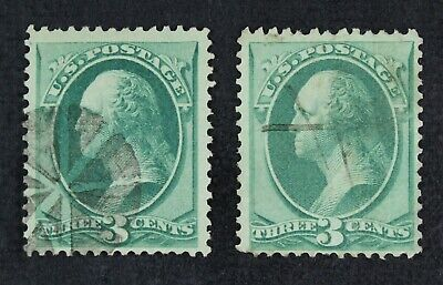 CKStamps: US Stamps Collection Scott#136 (2) 3c Washington Used