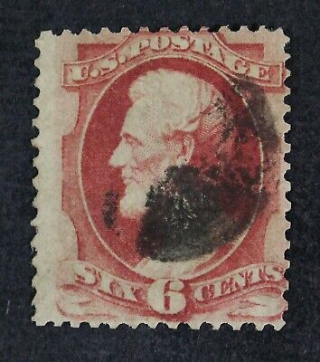 CKStamps: US Stamps Collection Scott#137 6c Lincoln Used Lightly Crease CV$500