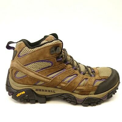 d7acb3ece66 Merrell Womens Moab 2 Mid Vent Trail Hiking Waterproof Athletic Boots Size  9.5