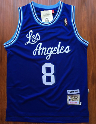 newest collection db013 a7367 LOS ANGELES LAKERS Kobe Bryant Retro Basketball Jersey Throwback Swingman  Blue