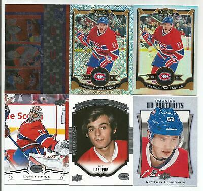 Montreal Canadiens 14 Card Lot Carey Price Guy Lafleur Brendan Gallagher  +++