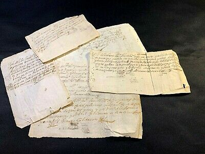 LOT OF FIVE SPANISH DOCUMENTS         1700s