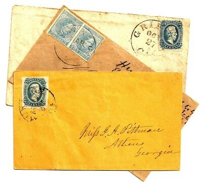 (3) CONFEDERATE Civil War COVER DEAL Group Lot NICE VARIETY Please Examine