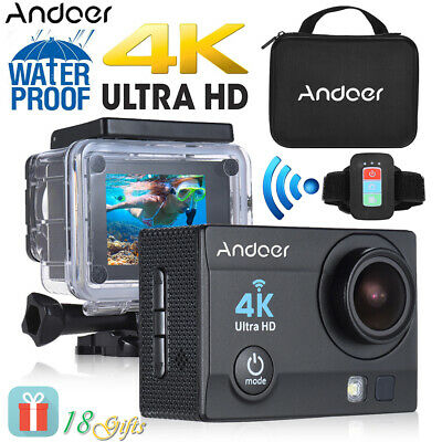 4K WIFI Action Camera 1080P HD 16MP Helm Cam wasserdichte DV-Fernbedienung O4I2