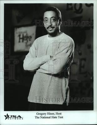 1998 Press Photo Gregory Hines, Host of The National Hate Test - lrp16693