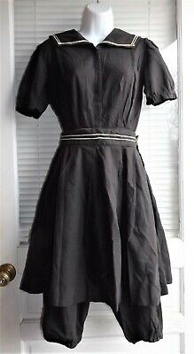 ANTIQUE ORIGINAL Victorian Edwardian VTG WOMENS Gibson Girl Skirt BATHING SUIT