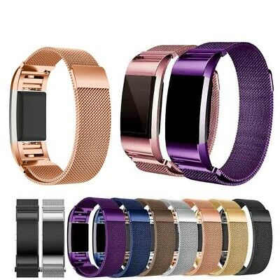 Fitbit Charge 2 Armband Edelstahl Replacement Wrist Strap Watchband Magnet