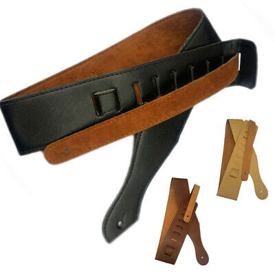 Thick Leather Strap Adjustable Shoulder Belt for Electric Acoustic Guitar Bass