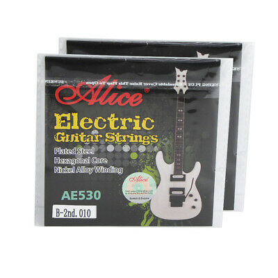 2PCS Electric Guitar B-2nd Strings .010'' Plated Steel String Extra Super Light