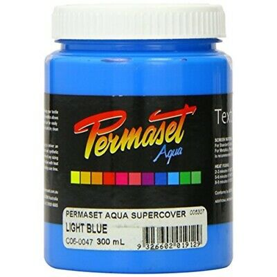 Permaset Aqua Supercover 300ml Fabric Printing Ink - Light Blue - Screen