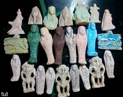 Ancient Egyptian Antiques Rare 24 Amulets Egypt Faience Stone1816 BC