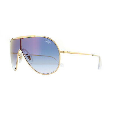 9087d36944 RAY-BAN SUNGLASSES WINGS RB3597 001 X0 Gold Blue Gradient Mirror ...