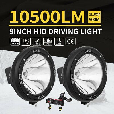 """2X 9"""" Inch 12V 100W Hid Driving Lights Xenon Spotlight Offroad 4Wd Truck Ute OW"""