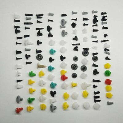 100pcs Car Automotive Push Pin Rivet Trim Clip Panel Body Interior Buckle OW