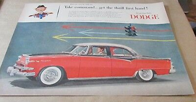 "Old Ad-<10""x14"">[Early Automobiles]--[1955]-DODGE---<4 DOOR ROYAL>"