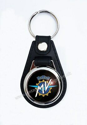Mv Agusta Motorcycle Faux Leather Key Ring / Key Fob..classic Italian Motorcycle