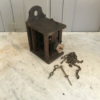 Antique wooden wall mounted clock parts
