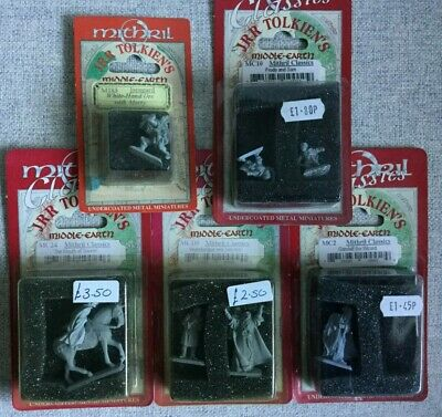 Mithril Lord of the Rings Metal Miniatures 1994 Gandalf Frodo Sam unpainted