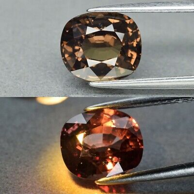 Rare! 2.52ct 8.2x7mm Cushion Natural Unheated Color Change Garnet, Africa