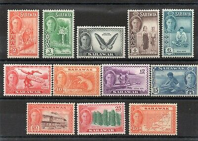 Sarawak 1950 set to 25c  + 1952 10c Cat £24.55  mint SG 171-81 & 186