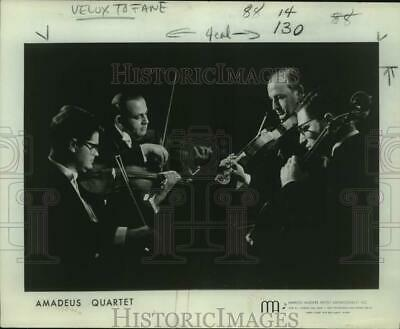 Press Photo Four Members of the musical group Amadeus St. Quartet in concert