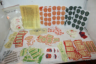 Vintage Lot Water Slide Radio Decals National Union RCA Raytheon Ce-Co Eveready