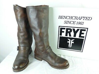 Frye Chocolate Brown Leather Pull-On 'Veronica Slouch' Riding Boots Sz 9.5 IOB