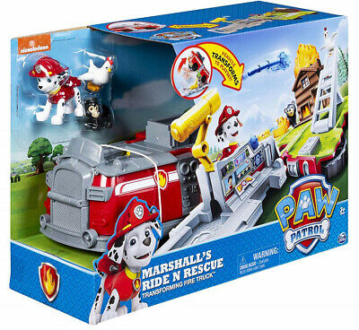 PAW Patrol Marshall's Ride n Rescue Transforming Fire Truck 20107845 Spinmaster