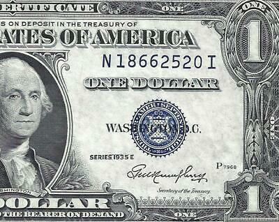 1935E $1 BLUE Seal SILVER Certificate! AU-UNCIRCULATED! Old US Paper Money!