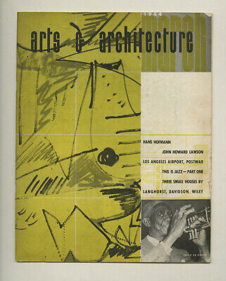 1944 Ray Eames Cover ARTS + ARCHITECTURE Hans Hofmann JAZZ Los Angeles Airport