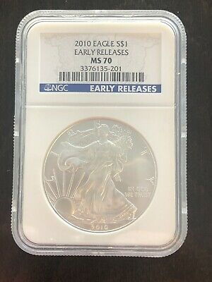 "2010 $1 (1oz) American Silver Eagle - NGC MS70 ""Early Releases"""