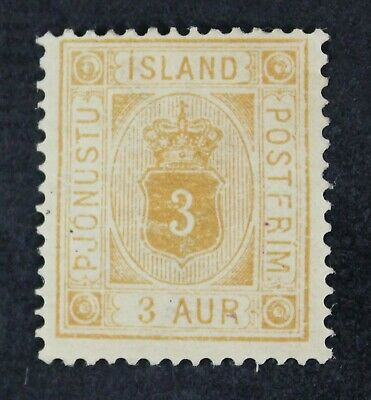 CKStamps: Iceland Stamps Collection Scott#O4 Mint HR OG Tiny Thin