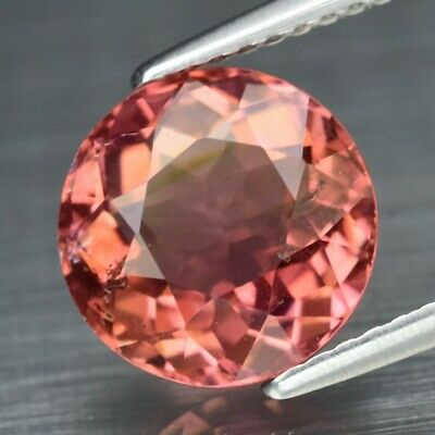 3.26ct 9.3mm Round Natural Unheated Padparadscha Color Tourmaline, Mozambique