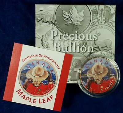 2017 $5 Canada 1 Oz. Silver Maple Leaf Coin - Limited Colorized Mountie Maple