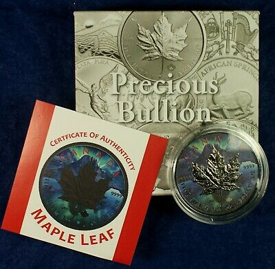2017 $5 Canada 1 Oz. Silver Maple Leaf Coin - Limited Colorized Maple