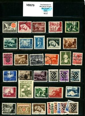 PKStamps - 1c Start - vb579 - Croatia - As Removed from Album Pages
