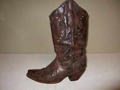 1cfc1805313 ANGELS WINGS CROSS Brown Leather Western Cowboy Boots Blue ...