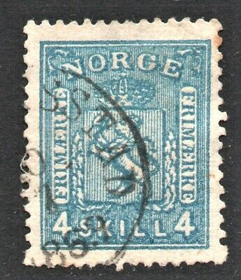 1863 NORWAY 4 skilling    NK 14