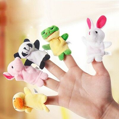 10Pcs Finger Puppets Cloth Doll Baby Educational Hand Cartoon Animals Toys Gift