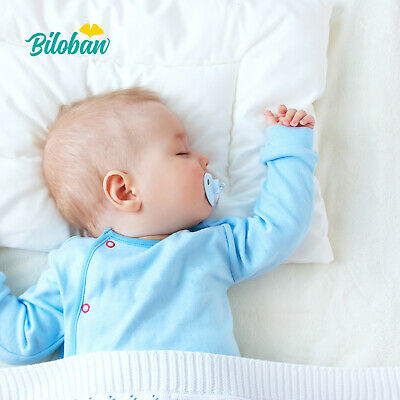 "Baby Bed Pillow with Cotton Pillowcase Suitable for Infant and Toddler 13""x18"""