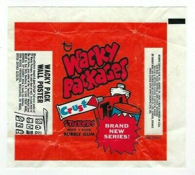 1974 Wacky Packages 8th Series 8 WAX PACK WRAPPER 0-465-21-02-4