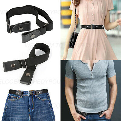 BUCKLE-FREE Elastic Canvas Belt No-Buckle & Stretch for Women Men of All Sizes