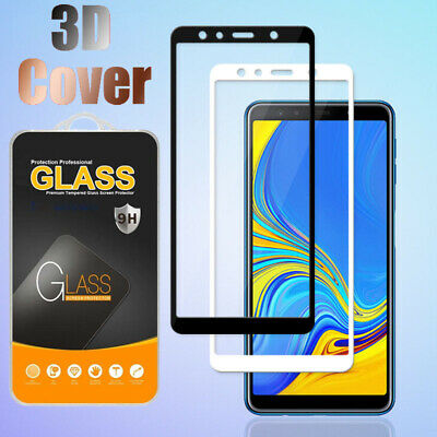 For Samsung Galaxy A6 A7 A8+ A9 2018 9H 3D Full Tempered Glass Screen Protector