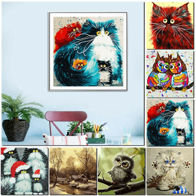 Animals DIY Digital Oil Painting Paint By Number Canvas Room Home Welt fr UKB