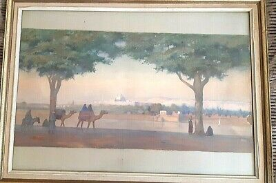 Very important Ottoman Turkish painting 19th signed  F.Zonaro .Vista di Istanbul