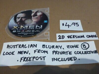 Bluray X-Men Days Of Future Past 2D Disc Only- Looks New, Aust B Zoned Free Post