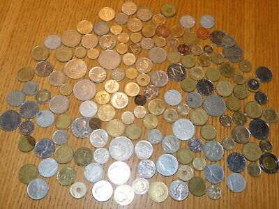 LOT 746 GRAMMES PIECES DIVERS world coins FRANCS monde FRENCH alt münzen EUROPE